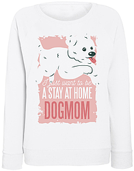 Женский свитшот DogMom (белый)