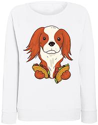 Женский свитшот Taco Puppy (белый)