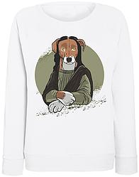 Женский свитшот Dog Monalisa (белый)