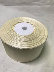 Лента атласная,ширина 5см(33 м ) цвет белый
