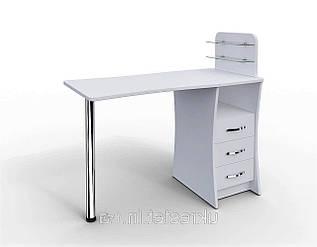 """Маникюрный стол M104 """"Элегант"""" стеклянные полочки под лак"""