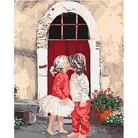Картины по номерам Первый поцелуй 2 у / пленка 40*50   КНО2325
