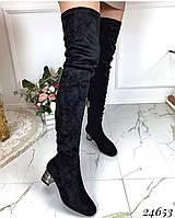 Ботфорты удобный каблук чулок 40 размер
