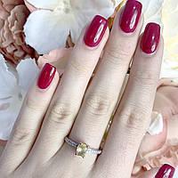 Серебряное кольцо с цитрином nano 875 пробы 18   18,5   17,5   16,5 размер   1957493