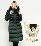 Воздуховик Braggart Angel's Fluff 31515 | Теплая женская куртка зеленая, фото 1