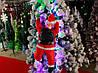 Дед Мороз, Санта Клаус на светящейся лестнице, 60см., фото 6