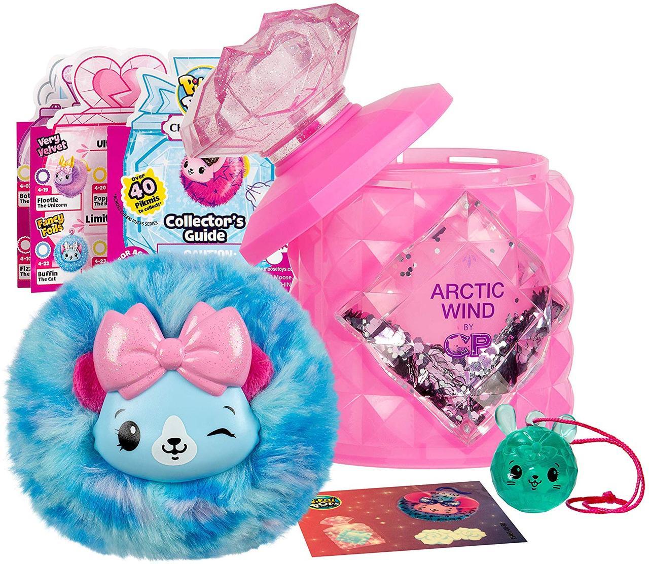 Сюрприз Пикми Попс, мягкая игрушка в бутылочке духов с блёстками, Pikmi Pops Cheeki Puffs