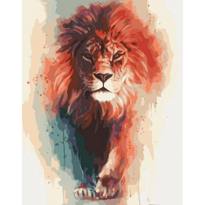 Картина по номерам Благородный король Идейка 40*50   КНО4017