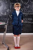 Школьный костюм для девочки: юбка и пиджак 612, фото 1