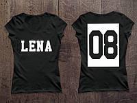 Женская именная футболка ( Все ЦВЕТА ) №26