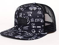 Молодежная черная кепка, чоловіча кепка Urban Planet TRUCKER DRAW