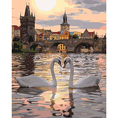 Картини за номерами Романтична Прага В КОРОБЦІ 40 * 50 Ідейка КН4135