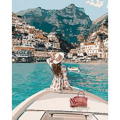 Картини за номерами Подорож на яхті В КОРОБЦІ 40 * 50 Ідейка КН4614