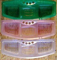 Мыльница  тройная с подставкой для зубных щёток, р-р 380мм*140мм, фото 1