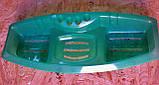 Мыльница  тройная с подставкой для зубных щёток, р-р 380мм*140мм, фото 4