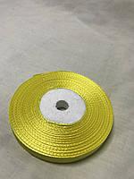 Лента атласная,ширина 1 см (33 м ) цвет желтый