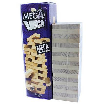 Настольная игра Mega Vega Дженга Башня Jenga Джанга 54 бруска