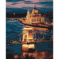 Картины по номерам Волшебный Будапешт / пленка 40*50   КНО3557