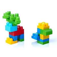 Конструктор Mega Bloks First Builders Классический в сумке, 80 деталей