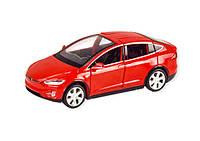 """Машинка """"Tesla Model X"""" из серии """"Автопром"""" (красная) 6603"""