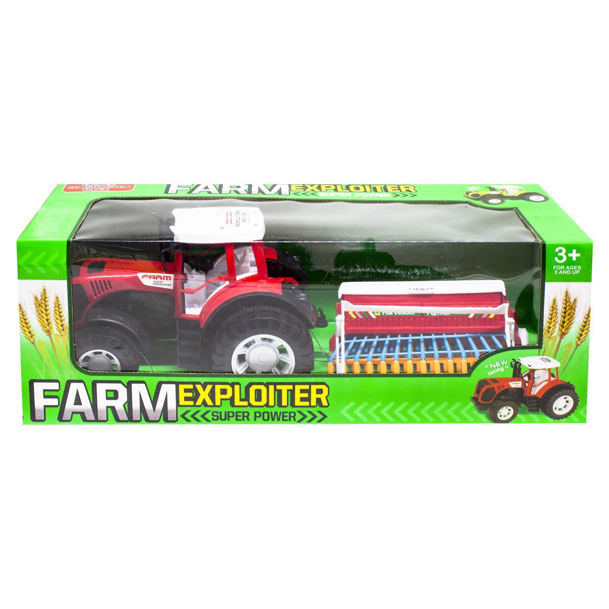 """Трактор """"Ферма с сеялкой"""" (красный) 0488-207"""