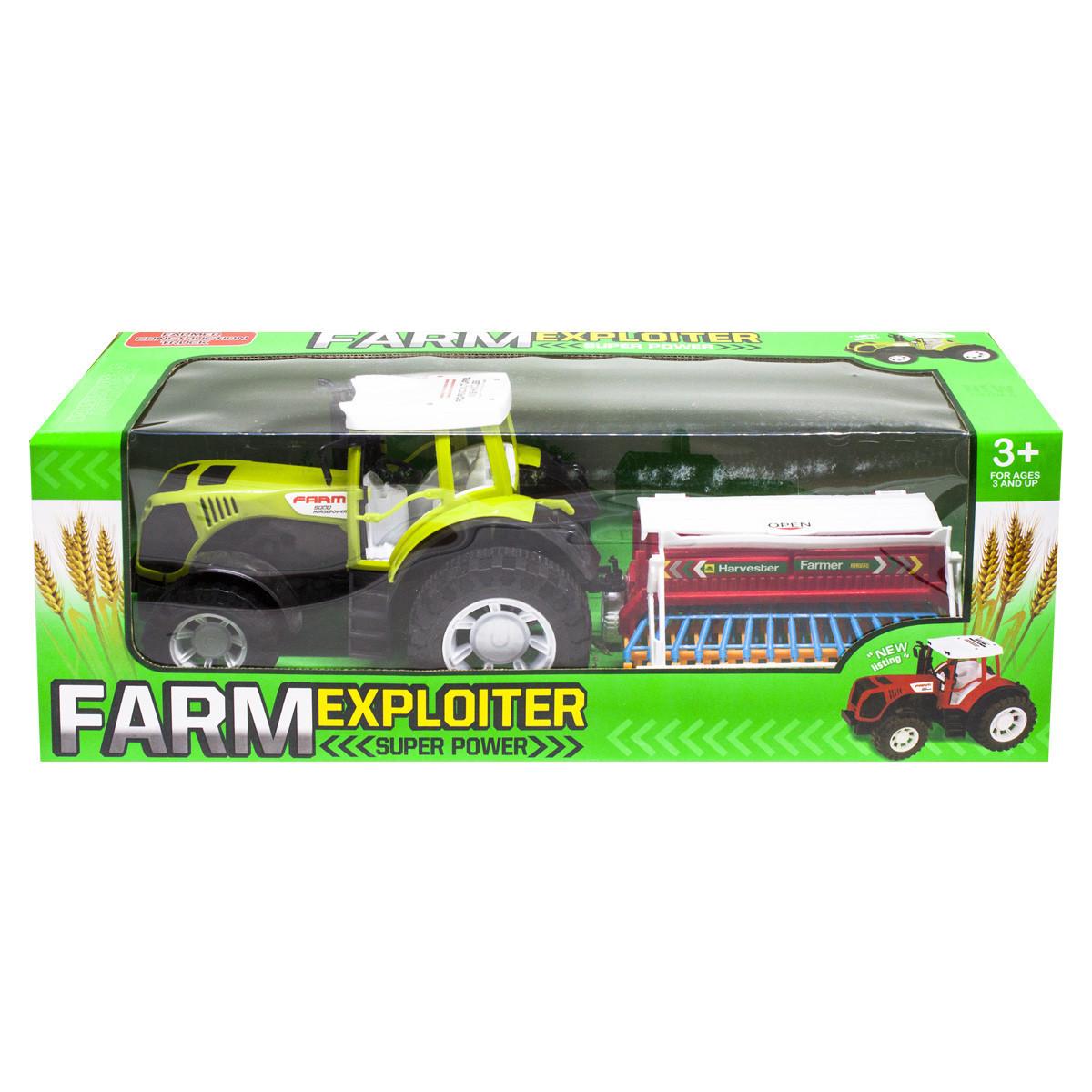 """Трактор """"Ферма с сеялкой"""" (зеленый) 0488-207"""