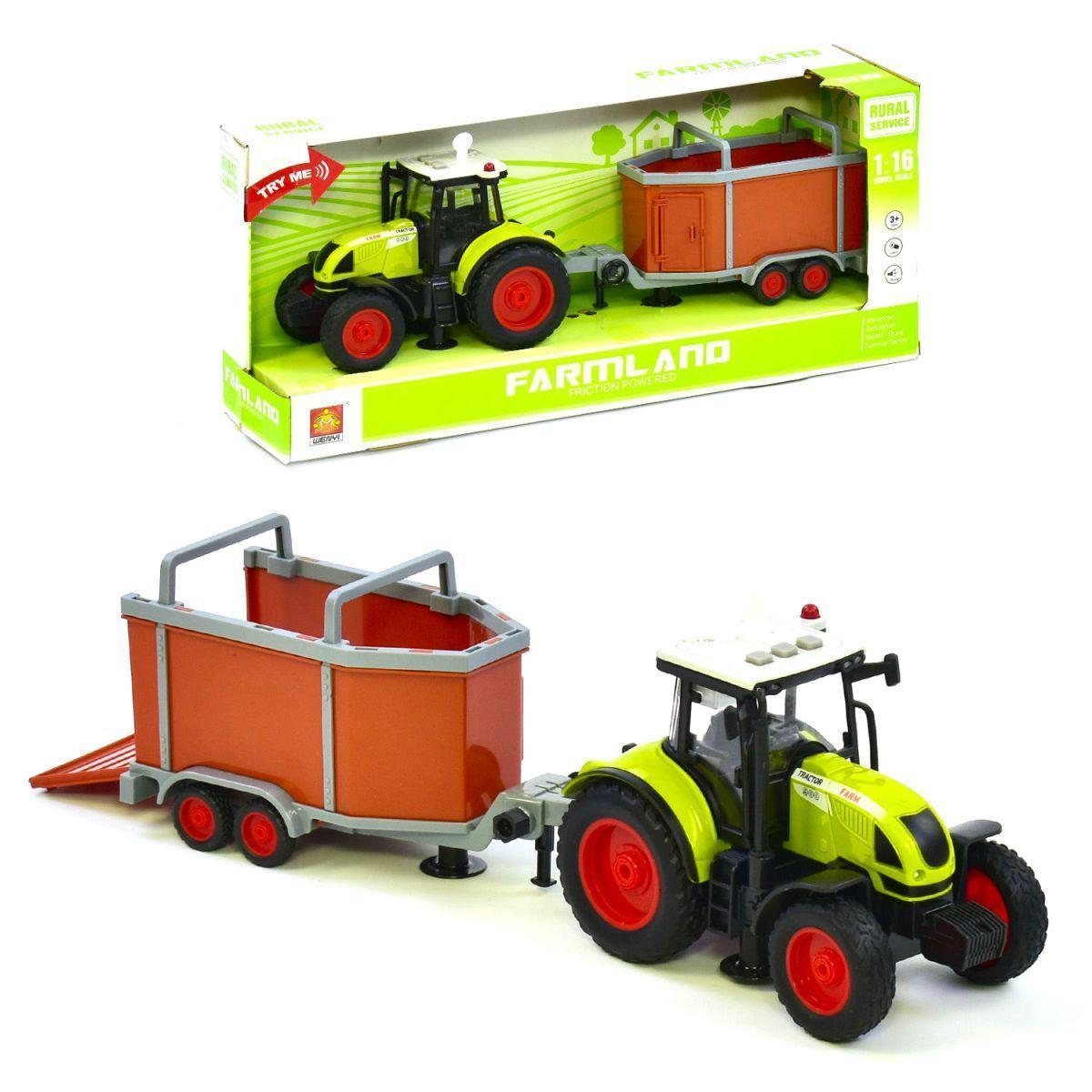 Трактор с прицепом батар. WY900F вид 1 WY900F/I