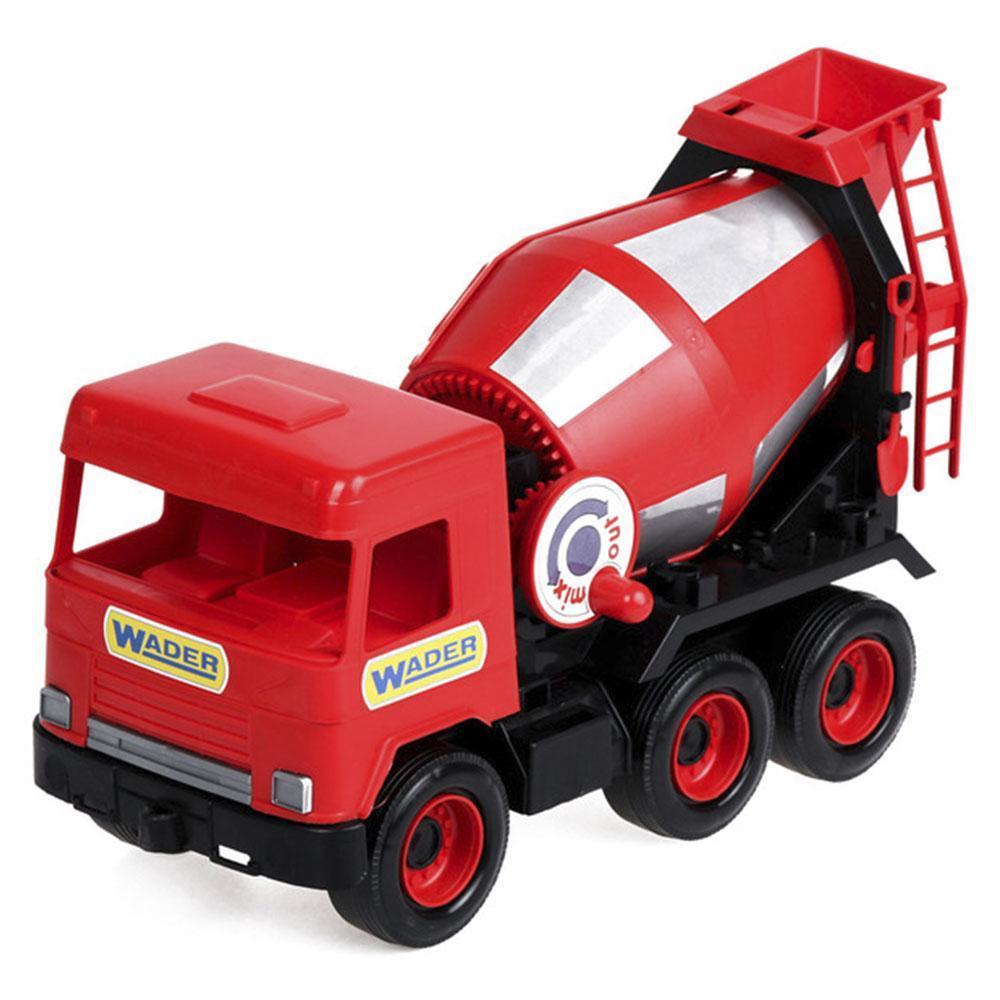 """Авто """"Middle truck"""" бетономешалка (красный) в коробке 39489"""