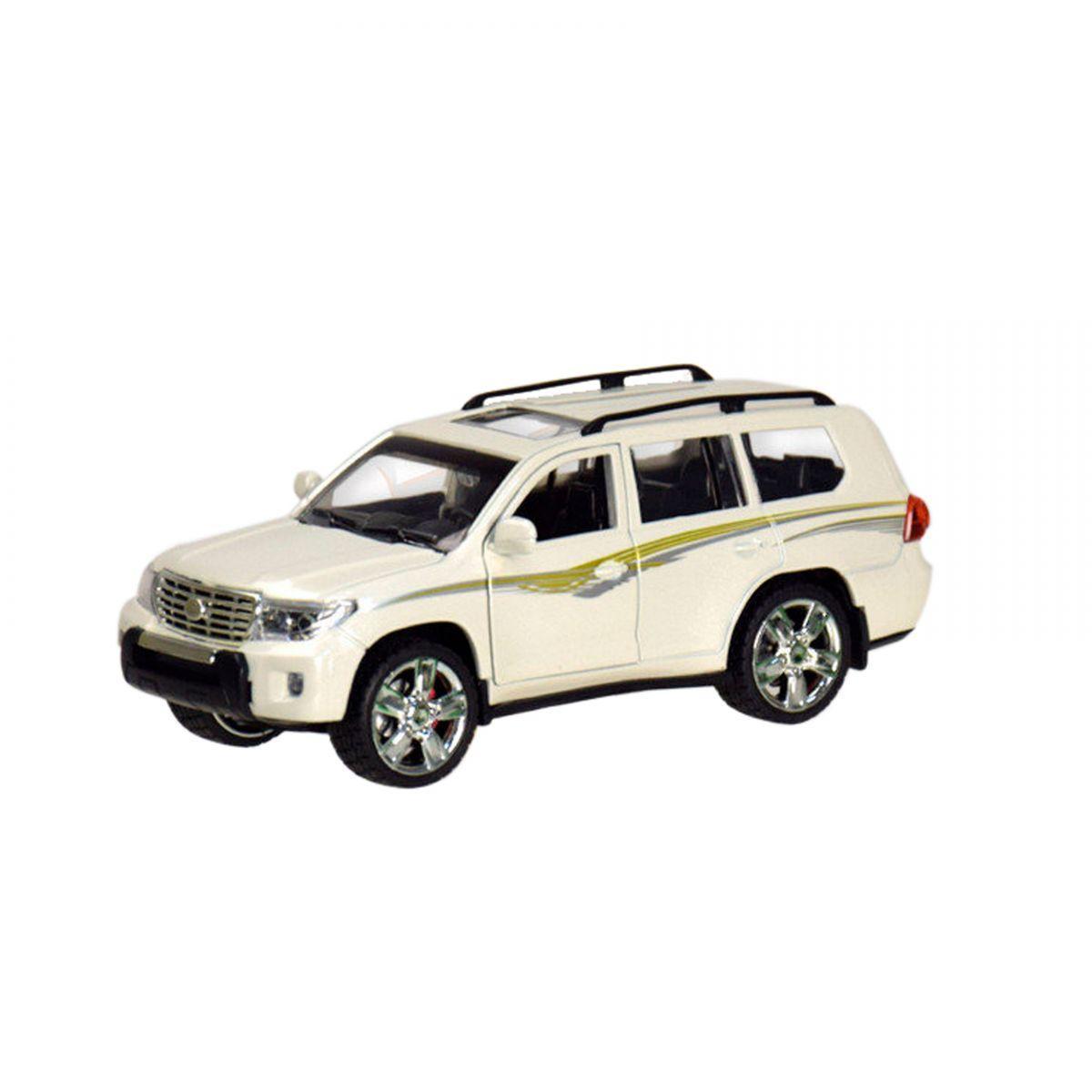 """Машина """"Toyota Land Cruiser 200"""" из серии """"Автопром"""" (белая) 7662"""
