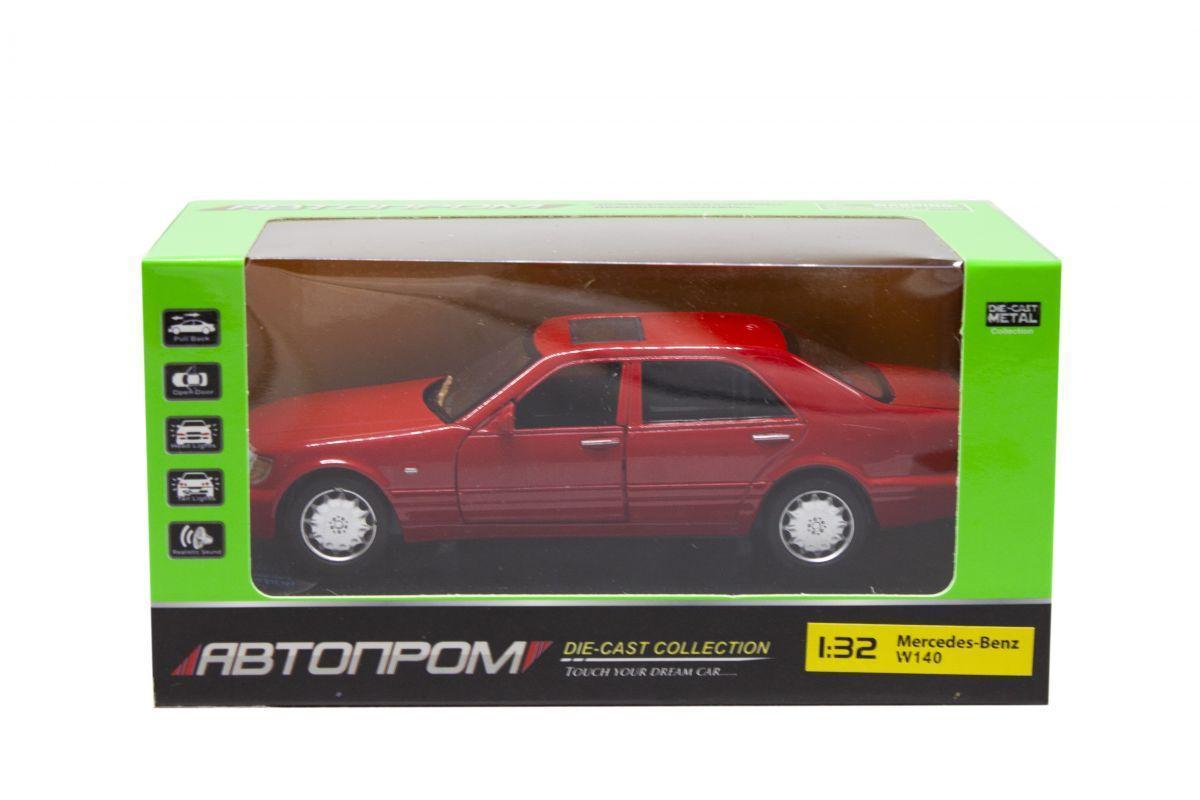 """Машинка """"Mercedes W140"""" из серии """"Автопром"""" (красная) 32014"""