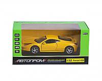 """Машинка инерционная """"Ferrari 458"""" из серии """"Автопром"""" (желтая) 3201C"""