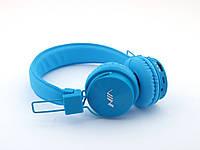 🎅 Подарок ребенку ! Nia-X3 Bluetooth наушники (бездротові навушники) гарнитура с MP3 FM, голубые | AG330210