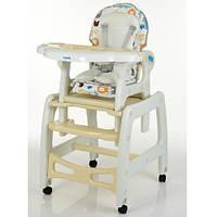 Детский стульчик-трансформер для кормления M 1563 Animal Beige