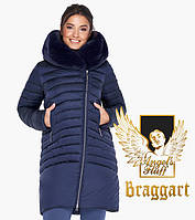 Воздуховик Braggart Angel's Fluff 31038 | Куртка зимняя женская синяя