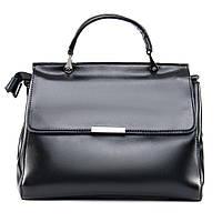Двухсторонняя красивая кожаная женская сумка классическая ALEX RAI 09-3 9927 black