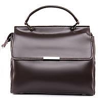 Стильная коричневая сумка Женская Классическая из натуральной кожи (27*23*12см) ALEX RAI 09-3 9927 brown