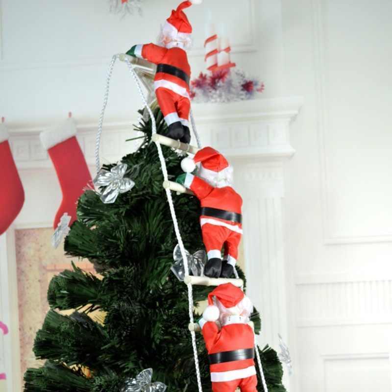 3 Деда Мороза на лестнице, по 25см.