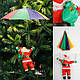Дед Мороз с зонтиком, 35см., фото 5