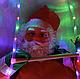 Дед Мороз, Санта Клаус на светящейся лестнице, 60см., фото 9