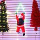 3 Деда Мороза на светящейся лестнице, по 35 см., фото 6
