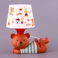 Lefard Ночник настольный светильник с абажуром Мишка 28 см