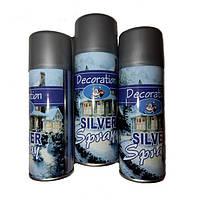 Спрей-краска для декора в баллончике 250 мл, Серебро