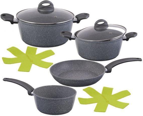 Уникальный набор посуды из нержавеющей стали с мраморным покрытием Edenberg EB-9189 8 предметов