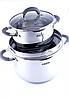Уникальный набор посуды из нержавеющей стали, 5-слойное дно Benson BN-238 7 предметов, фото 3