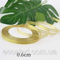 Лента парча 0,6см  бунт - 23 метра, цвет золото (сп7нг-0258)