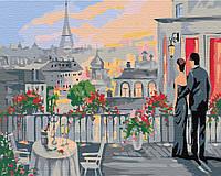 Картина по номерам Влюбленные на терассе, 40x50 см., Brushme