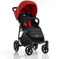 Детская прогулочная коляска El Camino ME 1032L ESCAPE Crimson Black, бордовая