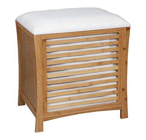 Деревянная одноместная тумбочка-сиденье ASPECT OT35 53 x 35 x 58 см для ванной комнаты и гостинной