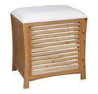Деревянная одноместная тумбочка-сиденье ASPECT OT35 53 x 35 x 58 см для ванной комнаты и гостинной, фото 1