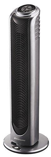 Осциллирующий вентилятор с дистанционным управлением и таймером Bionaire, серебристый / черный